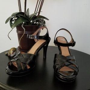 Nurture Black Patent Leather Heels